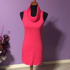 ❤️Express hot pink dress, Cowl neck. XS